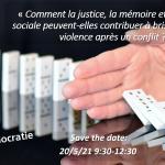 Webinaire : Quel lien entre justice, mémoire et cohésion sociale?